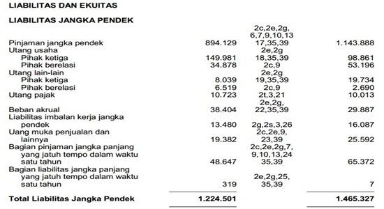Contoh Laporan Keuangan Perusahaan Tbk - neraca 3