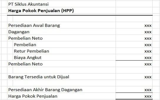 cara menghitung HPP